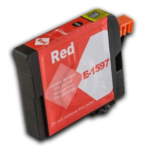 1 x Chipped Compatible Epson T1597 Red Ink