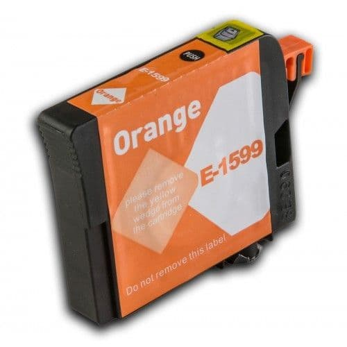 1 x Chipped Compatible Epson T1599 Orange Ink