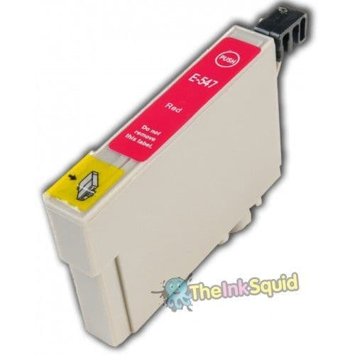 """1 x Compatible Red Epson""""Frog"""" T0547 Non-oem Ink Cartridge"""