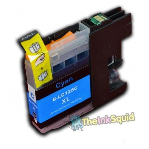 1 x Cyan (Blue) Brother LC125XL Compatible Ink Cartridge