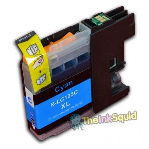 1 x Cyan (Blue) Compatible Brother B-LC123 C Compatible Ink Cartridge