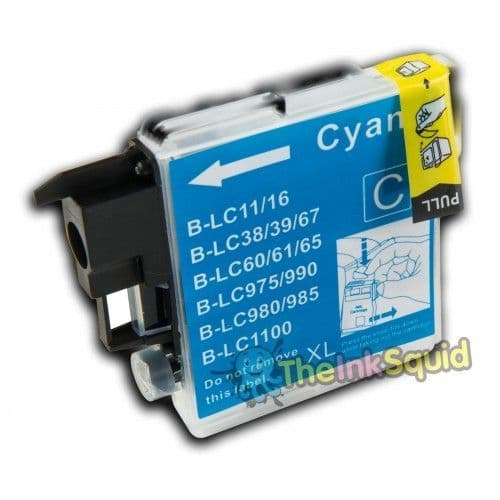 1 x Cyan/Blue High-Capacity Compatible Brother LC980 / LC1100 Ink Cartridge