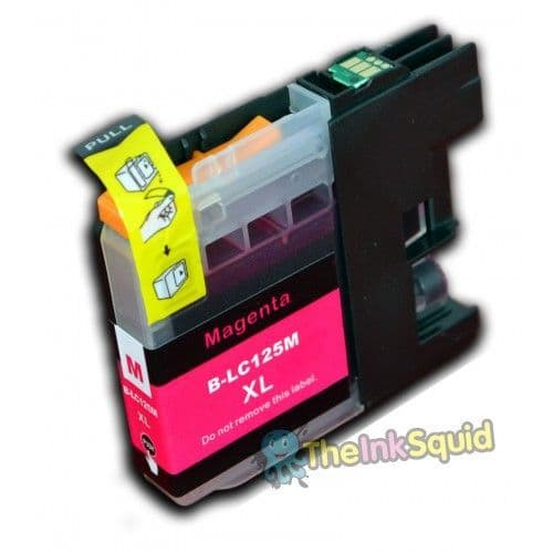 1 x Magenta (Red) Brother LC125XL Compatible Ink Cartridge