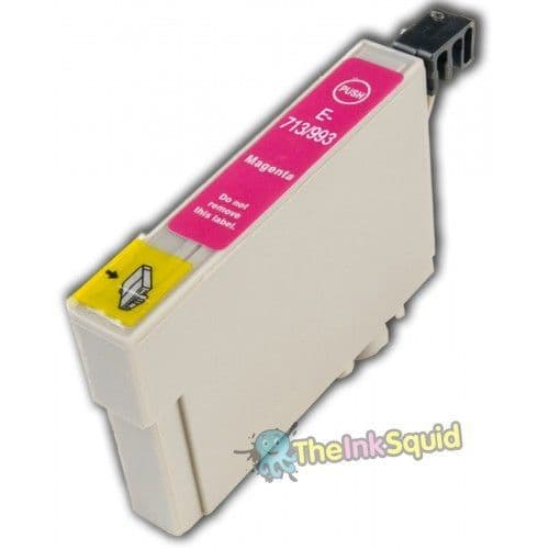 1 x Magenta/Red T0713 High-Capacity Epson Stylus Compatible Cheetah Ink Cartridge