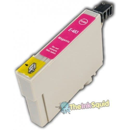1 x T0483 Magenta (Red) Compatible Seahorse Epson Stylus Photo Ink Cartridge