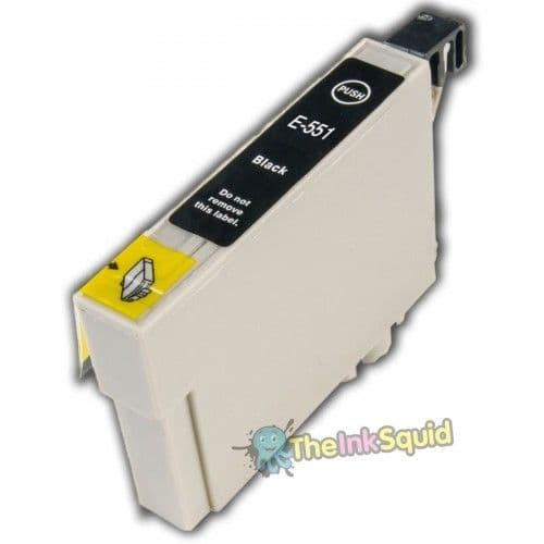 1 x T0551 Black Compatible Duck Ink Cartridge for Epson Stylus