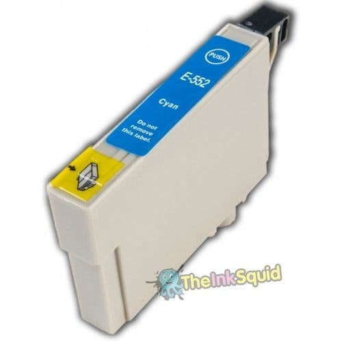 1 x T0552 Cyan (Blue) Compatible Duck Ink Cartridge for Epson Stylus