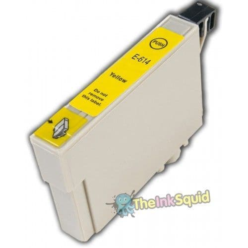 1 x T0614 Yellow Chipped Compatible Teddy Bear Ink Cartridge for Epson Stylus
