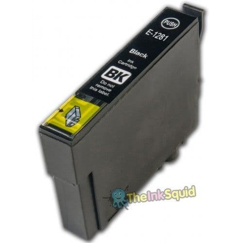 1 x T1281 Black High-Capacity Compatible Fox Ink Cartridge for Epson Stylus