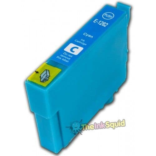 1 x T1282 Cyan (Blue) High-Capacity Compatible Fox Ink Cartridge for Epson Stylus