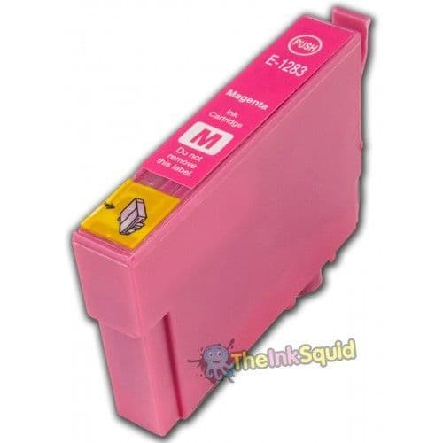 1 x T1283 Magenta (Red) High-Capacity Compatible Fox Ink Cartridge for Epson Stylus