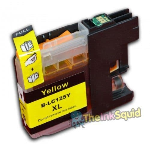 1 x Yellow Brother LC125XL Compatible Ink Cartridge