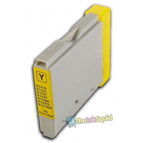 1 x Yellow High-Capacity Compatible Brother LC970 / LC1000 Ink Cartridge
