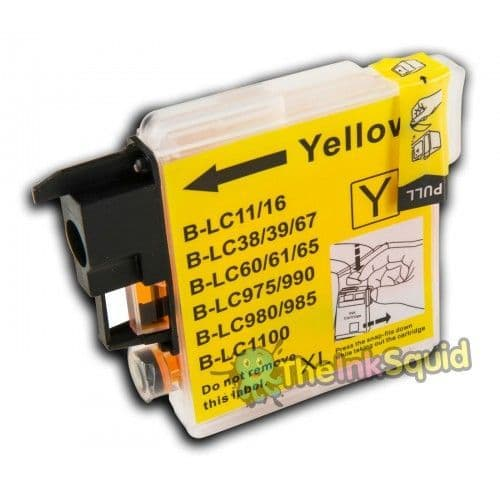 1 x Yellow High-Capacity Compatible Brother LC980 / LC1100 Ink Cartridge