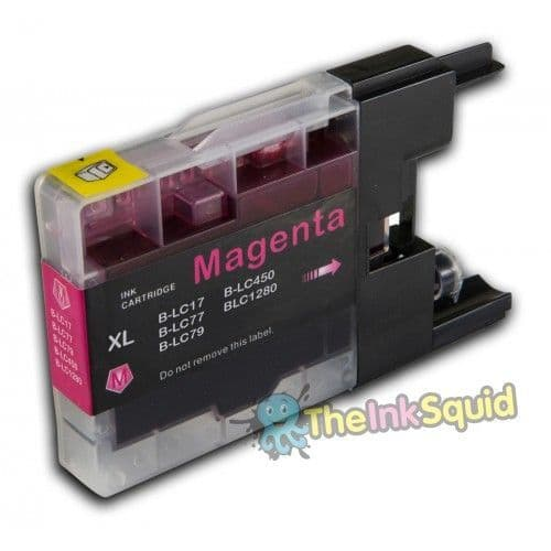 1 x Magenta Brother LC1220 / LC1240 / LC1280 Compatible Ink cartridge