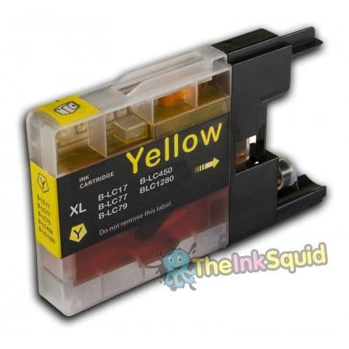 1 x Yellow Brother LC1220 / LC1240 / LC1280 Compatible Ink cartridge