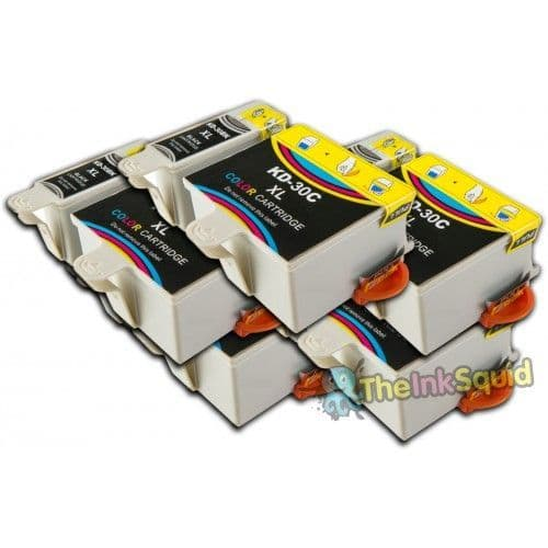 10 Chipped High-Capacity Compatible Kodak 30 (K30BK/K30C) Ink Cartridges