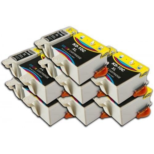 14 Chipped High-Capacity Compatible Kodak 30 Easyshare K30BK / K30C Ink Cartridges