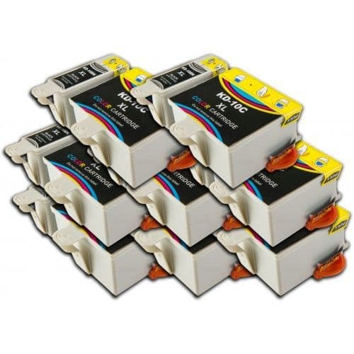 16 Chipped High-Capacity Compatible Kodak 30 Easyshare K30BK / K30C Ink Cartridges