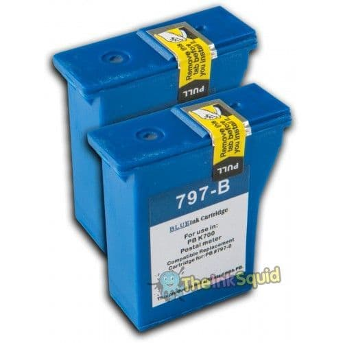 2 Chipped Compatible Franking PB797-0RN Inks