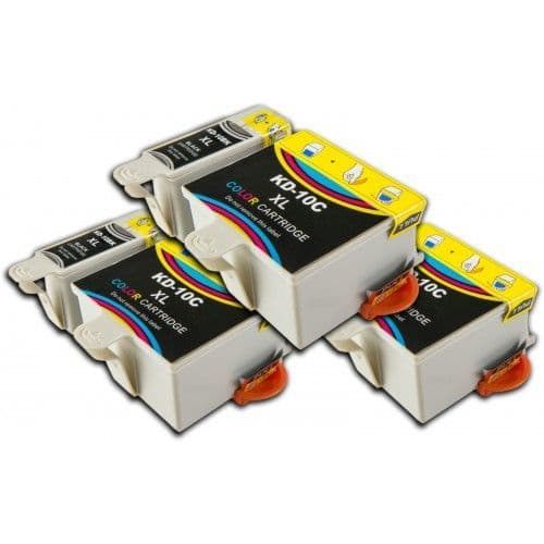 6 Chipped High-Capacity Compatible Kodak 10 Easyshare K10BK / K10C Ink Cartridges