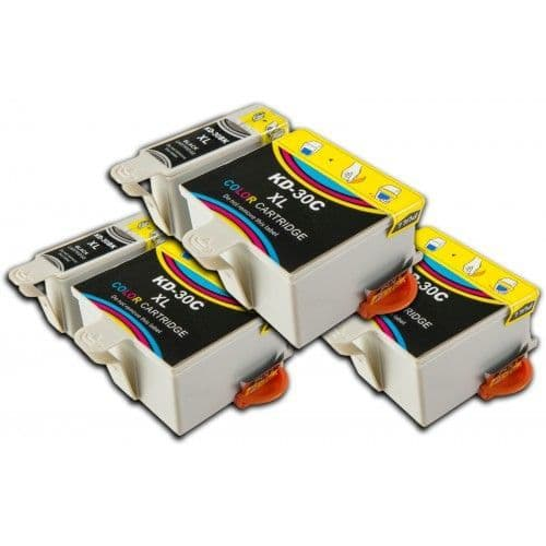 6 Chipped High-Capacity Compatible Kodak 30 (K30BK/K30C) Ink Cartridges
