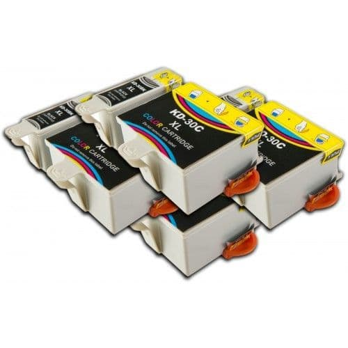 8 Chipped High-Capacity Compatible Kodak 30 Easyshare K30BK / K30C Ink Cartridges