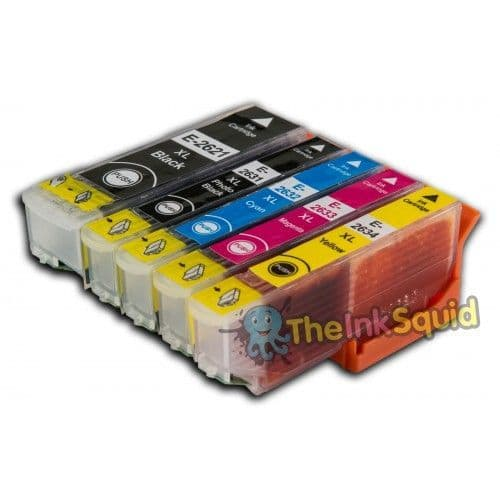Set of 26XL T2636 Compatible Polar Bear Ink Cartridges for Epson Expression Photo