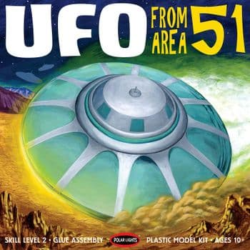 Area 51 UFO reissue 1:48 Scale Model Kit By Polar Lights