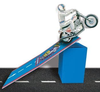 Evel Knievel Stunt Cycle Stow-N-Go Ramp