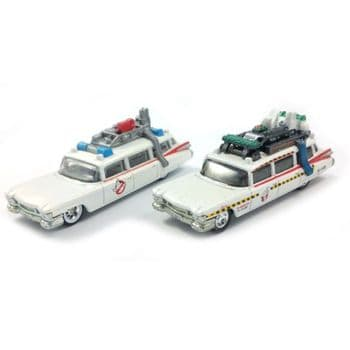 Ghostbusters 1:64 Scale Diecast Ecto 1 & Ecto1A Twin Pack Hotwheels