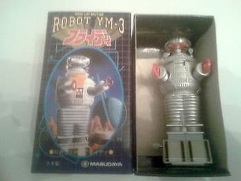 LOST IN SPACE YM-3 ROBOT WIND UP BY MASUDAYA NEW BUT BOX HAS DAMAGE