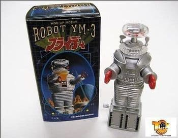 LOST IN SPACE YM-3 ROBOT WIND UP BY MASUDAYA NEW IN ORIGINAL BOX