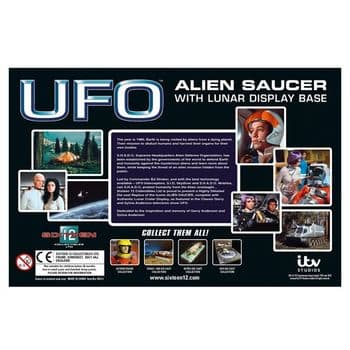 SIXTEEN 12 UFO SAUCER WITH LUNAR DISPLAY BASE LIMITED EDITION