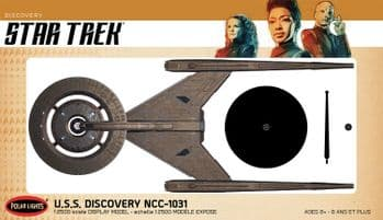 Star Trek USS Discovery 1: 2500 Scale Pre-Built Model By Polar Lights