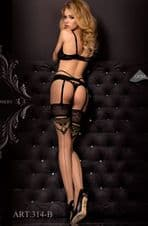 Ballerina 314 Hold Ups Nero(Black)/Skin