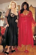 Intimate Attitudes 2 Piece Gown Set - Red