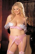 Intimate Attitudes Crotchless Thong Panty -Pink
