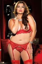 Intimate Attitudes Crotchless Thong Panty - Red