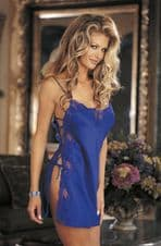 Sexy Electric Blue Chemise