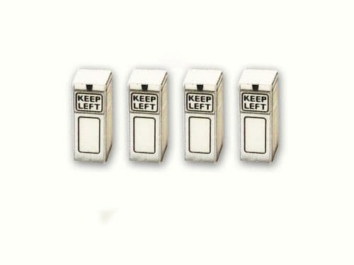 1950's Keep Left Bollards With Working LEDs (Pack Of 4) AX019-OO