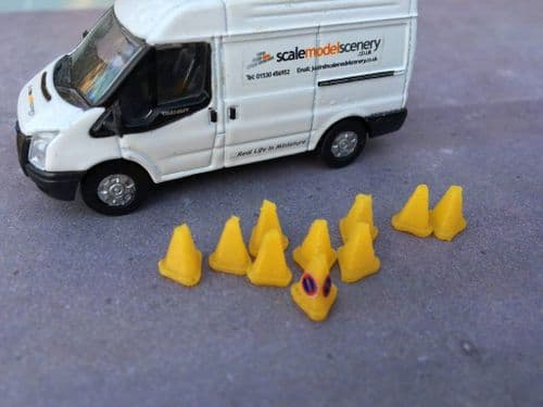 AX045-OO 3D Printed No Parking Cones Small (Pack of 10) OO/4mm/1:76