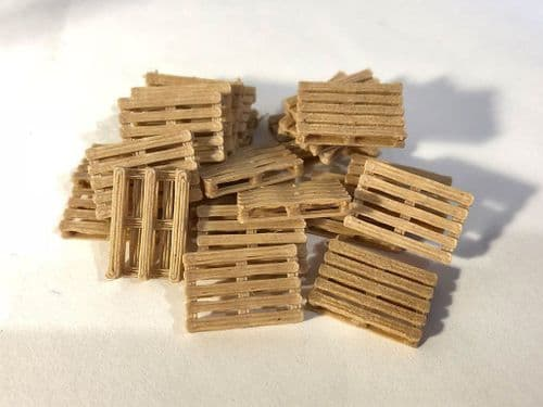 AX063-OO 3D Printed Real Wood Pallets (Pack of 24) OO/4mm/1:76