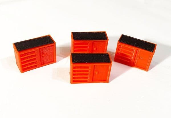 AX075-OO 3D Printed Tool Chests/Cabinets (Pack of 4) OO/4mm/1:76
