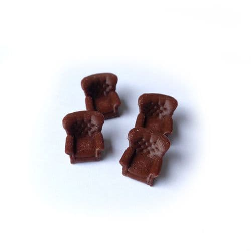 AX088-O Armchairs (Pack of 4) – O/7mm/1:43