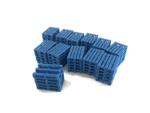 AX118-OO 3D Printed Blue Pallet Stacks (Pack of 12) OO/4mm/1:76