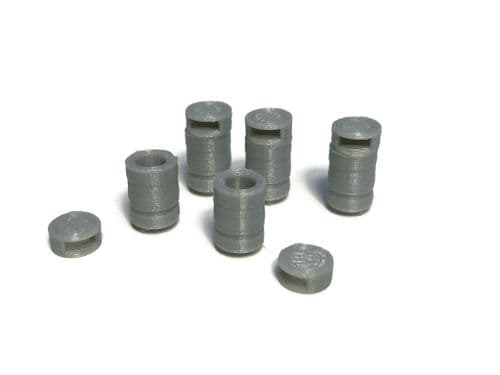 AX142-OO Round Pre-Cast Concrete Litter Bins (Pack of 5) - OO/4mm/1:76