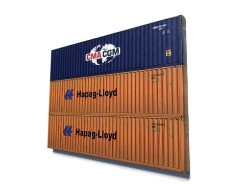 AX145-OO Low Relief Stacked 40ft Shipping Containers (Choice Of Designs) - OO/4mm/1:76