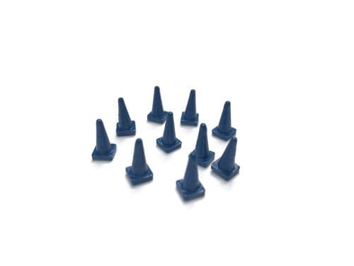 AX153-OO Blue Road Cones (Pack of 10) OO/4mm/1:76