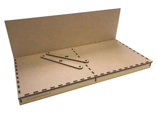 BB009 Diorama Baseboard 400x200mm With Backscene Board